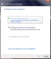Configure smart-card
