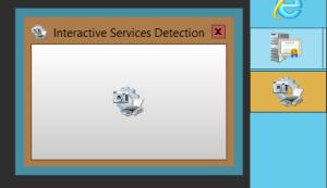 Taskbar notification for interactive service