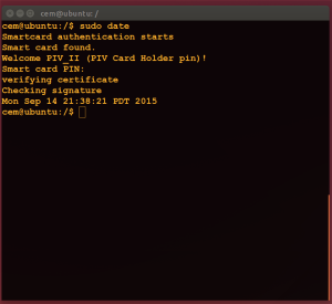 Command line smart-card usage