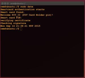 Command line smart-card usage
