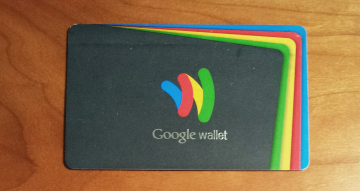 Early example of Google Wallet card